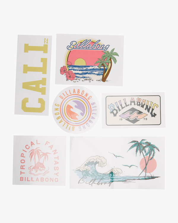 0 Sand And Sun Sticker Pack White ABJAA00108 Billabong