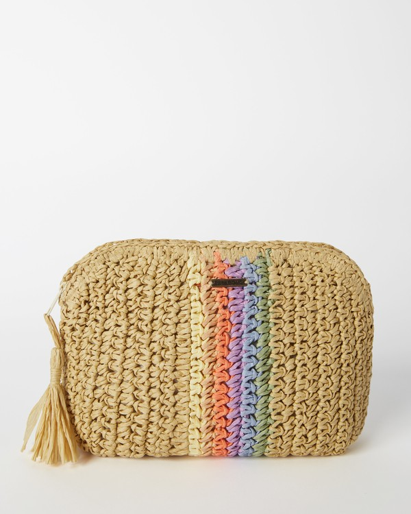 0 Natural Glow Straw Cosmetic Bag Grey ABJBP00138 Billabong