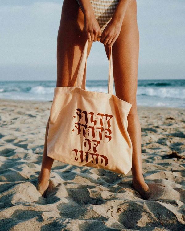0 Salty Blonde Take Me Too Tote Bag Grey ABJBT00101 Billabong
