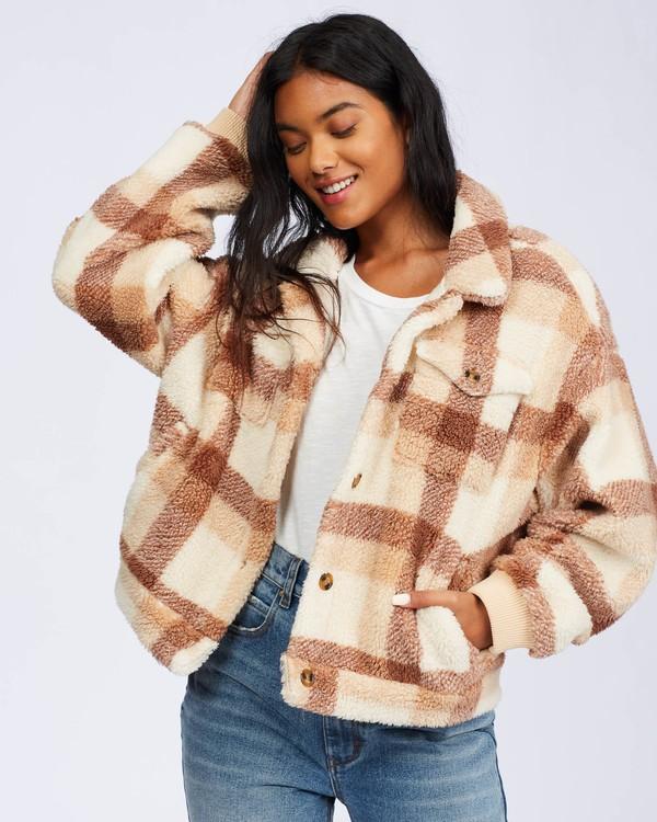 0 Grafton Button Through Fleece Jacket Beige ABJFT00106 Billabong