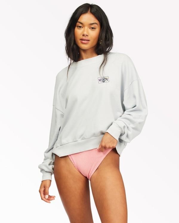 0 Lets Chill Pullover Sweatshirt White ABJFT00140 Billabong
