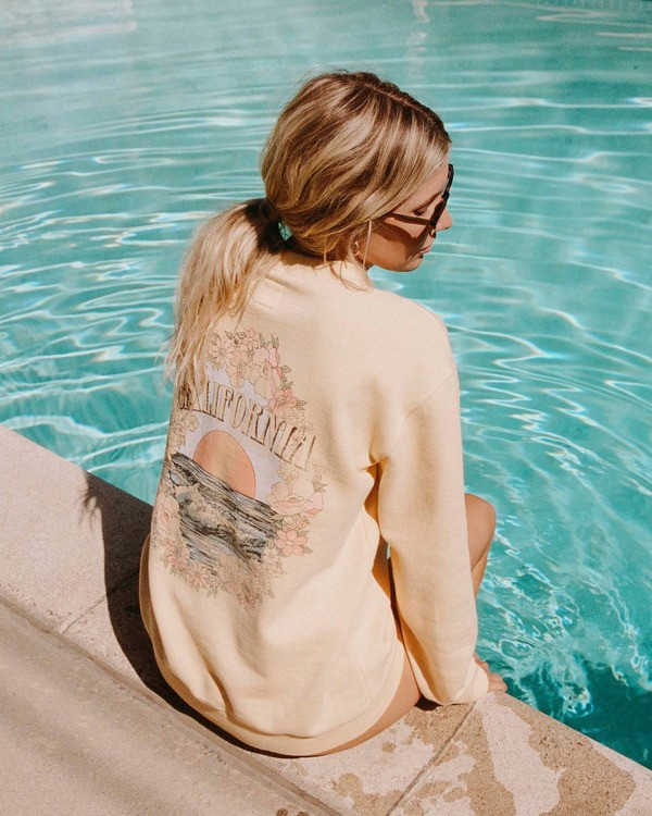 0 Salty Blonde After Sunset Sweatshirt Yellow ABJFT00149 Billabong