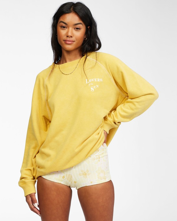 0 Salt And Sand Sweatshirt Yellow ABJFT00176 Billabong