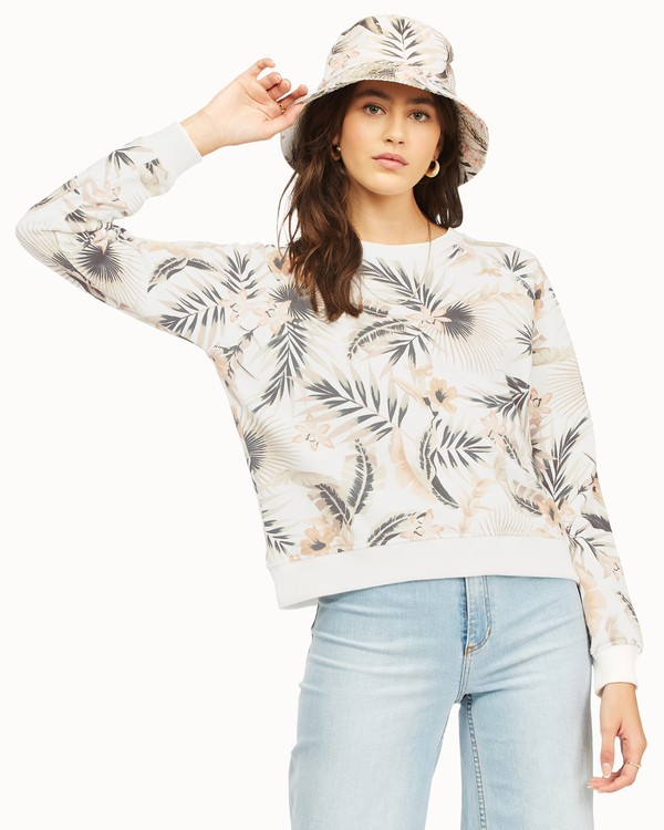 0 Sun Shrunk Crewneck Sweatshirt Grey ABJFT00189 Billabong