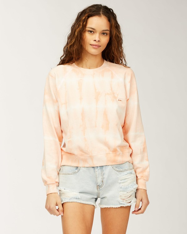 0 Sun Shrunk Crew Neck Sweatshirt Pink ABJFT00198 Billabong