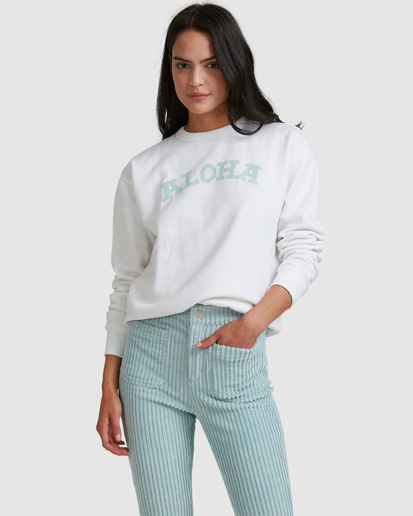 0 Aloha Crewneck Sweatshirt White ABJFT00229 Billabong