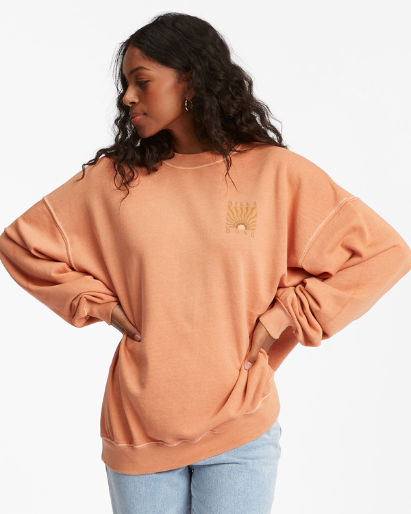 0 Ride In Oversized Crewneck Sweatshirt Multicolor ABJFT00251 Billabong
