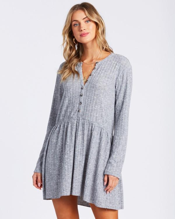 0 Always Lounging Dress Grey ABJKD00109 Billabong