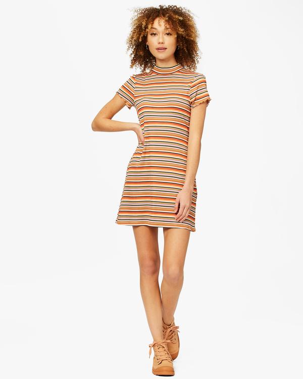 0 Lost In Time Knit Stripe Mini Dress Multicolor ABJKD00153 Billabong
