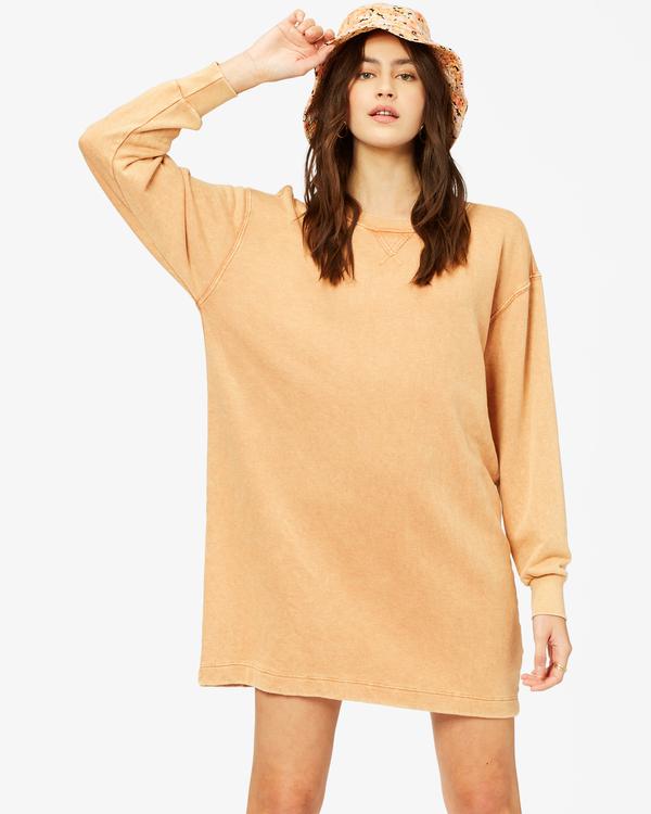 0 Sandy Dreams Sweatshirt Dress Brown ABJKD00154 Billabong