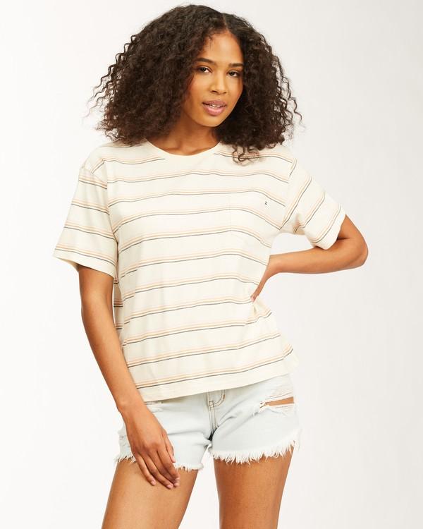 0 Beach Stripes Short Sleeve T-Shirt Grey ABJKT00185 Billabong