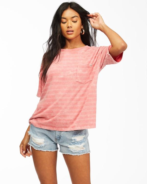 0 Beach Stripes Short Sleeve T-Shirt Multicolor ABJKT00185 Billabong