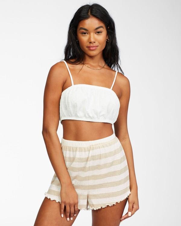 0 Tiny Tropics Knit Bralette White ABJKT00201 Billabong