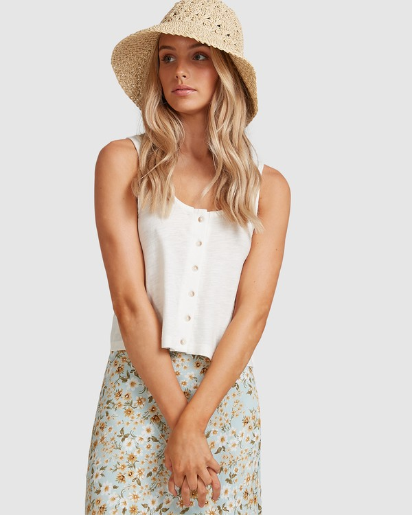 0 Button Up Tank White ABJKT00248 Billabong