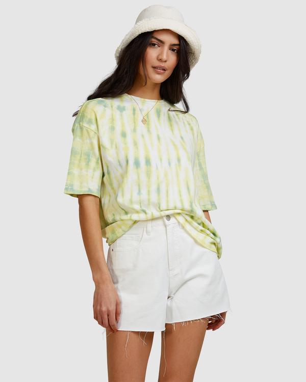 0 Tie-Dye Tee T-Shirt Green ABJKT00336 Billabong