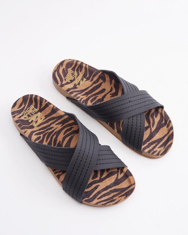 0 Bella Vista Double Strap Sandals Black ABJL200029 Billabong