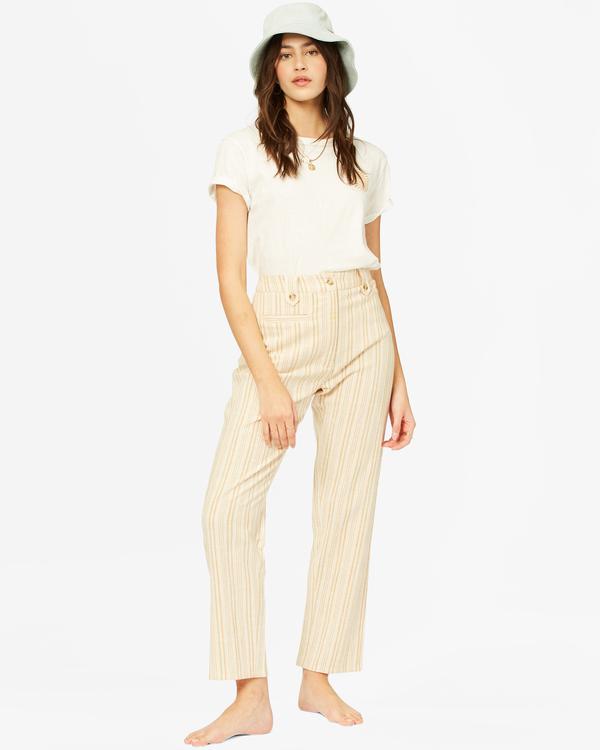 0 Work Waves High-Waist Cropped Pants White ABJNP00248 Billabong