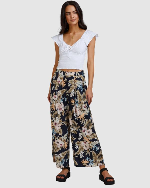 0 Tropicool Wide-Leg Floral Pants Black ABJNP00254 Billabong