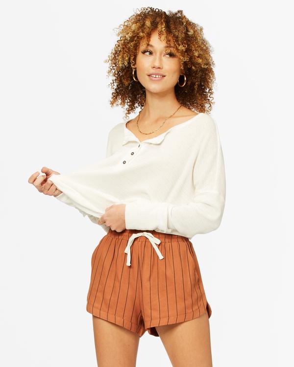 0 Road Trippin' Yarn-Dyed Elastic Shorts Brown ABJNS00100 Billabong