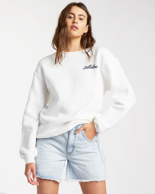 0 Chase The Sky Sweatshirt White ABJSF00116 Billabong