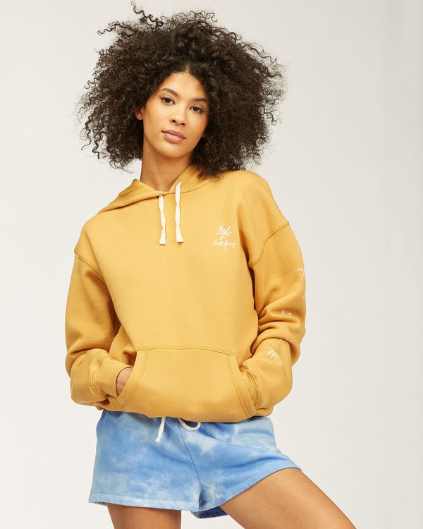 0 Palm Sketch Hoodie Yellow ABJSF00119 Billabong