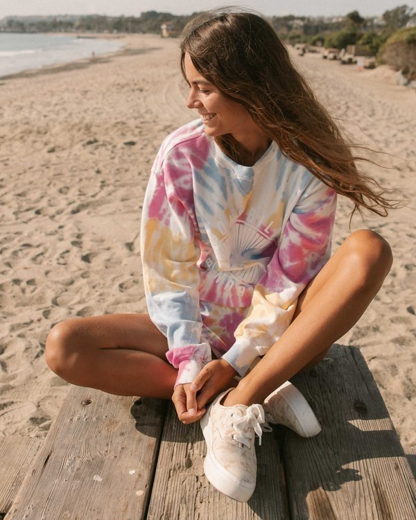 0 Sunny Rays Tie-Dye Crew Neck Sweatshirt Grey ABJSF00128 Billabong