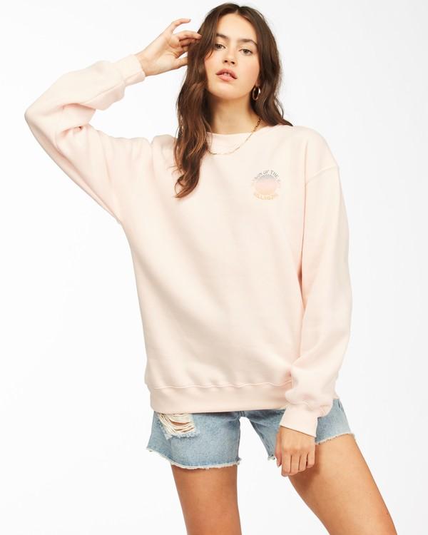 0 Season Of The Sun Crewneck Sweatshirt Pink ABJSF00149 Billabong