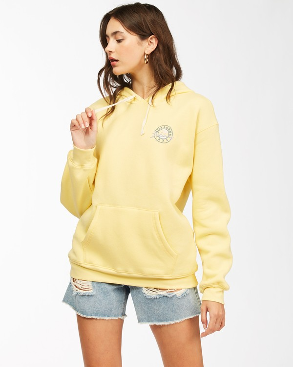 0 Way To Go Pullover Hoodie Yellow ABJSF00152 Billabong