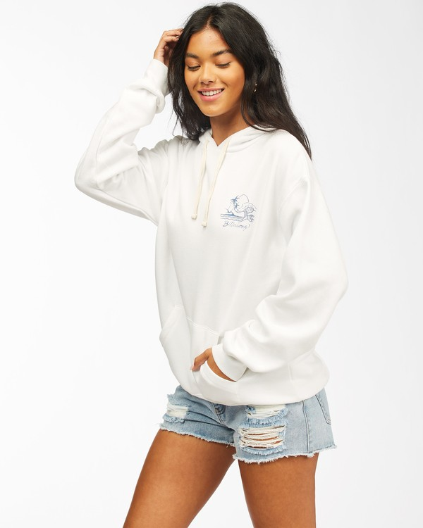0 Live By The Tides Pullover Hoodie White ABJSF00154 Billabong