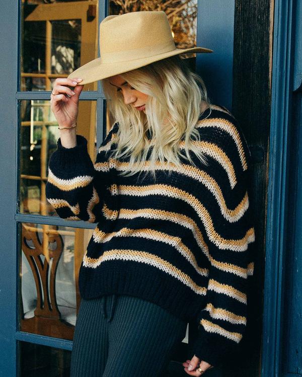 0 Laid Back Deep-V Sweater Black ABJSW00134 Billabong