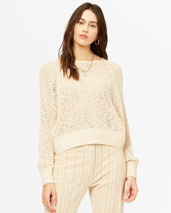 0 Sundown Relaxed Crewneck Sweater White ABJSW00151 Billabong