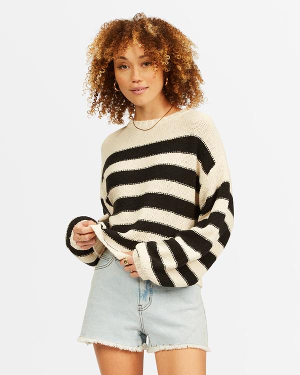 0 Seeing Double Crop Crewneck Sweater Black ABJSW00152 Billabong