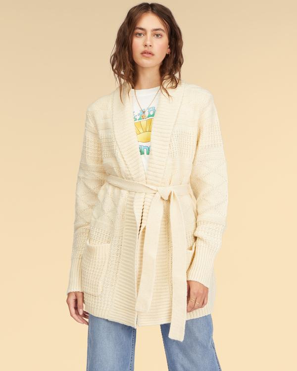 0 Wrangler Wrangled Up Sweater White ABJSW00170 Billabong