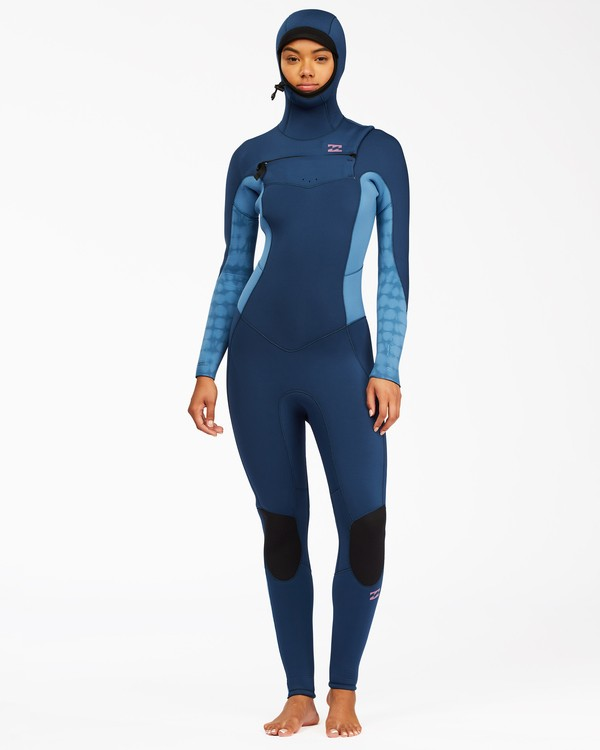 0 5/4 Synergy Hooded Chest Zip Full Wetsuit Multicolor ABJW200100 Billabong