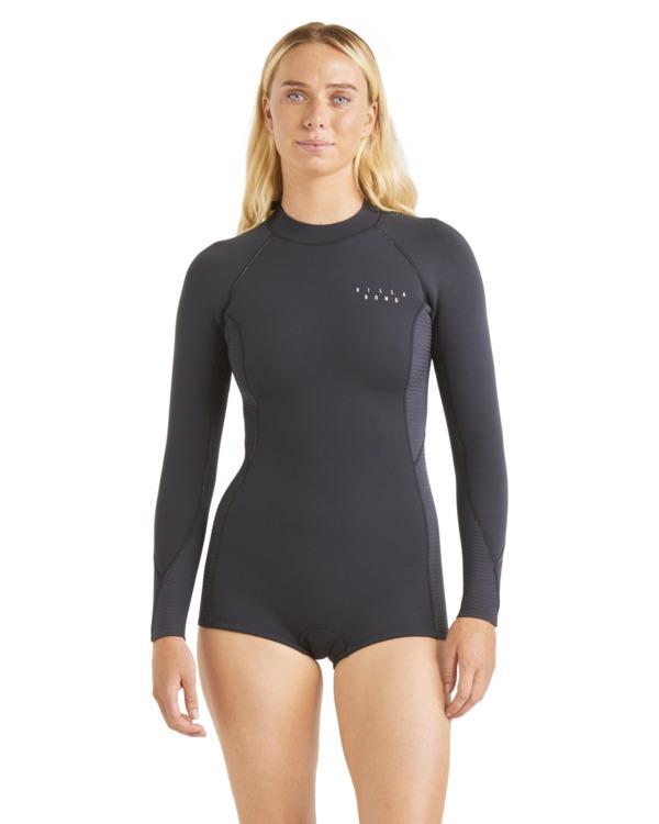 0 2mm Spring Fever Long Sleeve Spring Wetsuit Black ABJW400101 Billabong