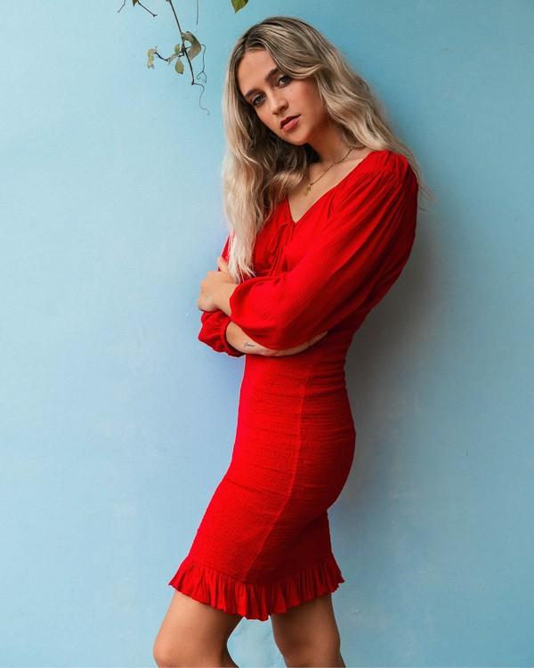 0 Amalfi Nights Dress Red ABJWD00122 Billabong