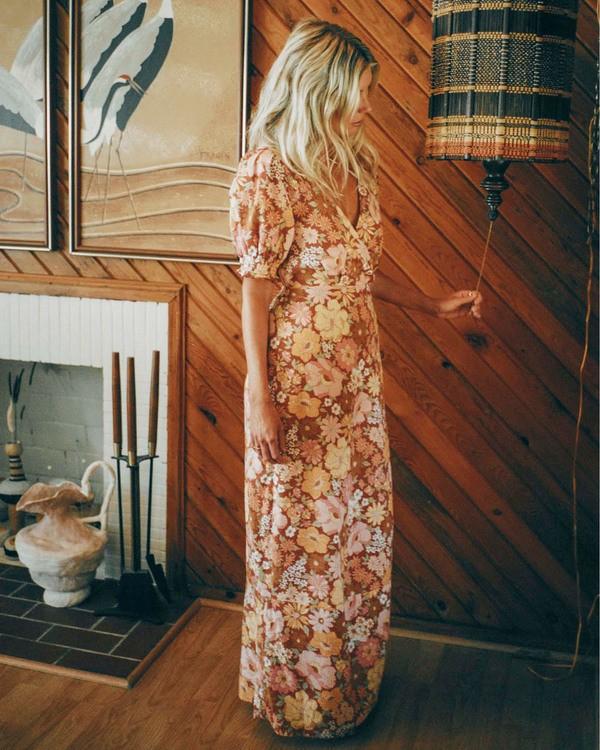 0 Salty Blonde Hello There Dress Brown ABJWD00186 Billabong