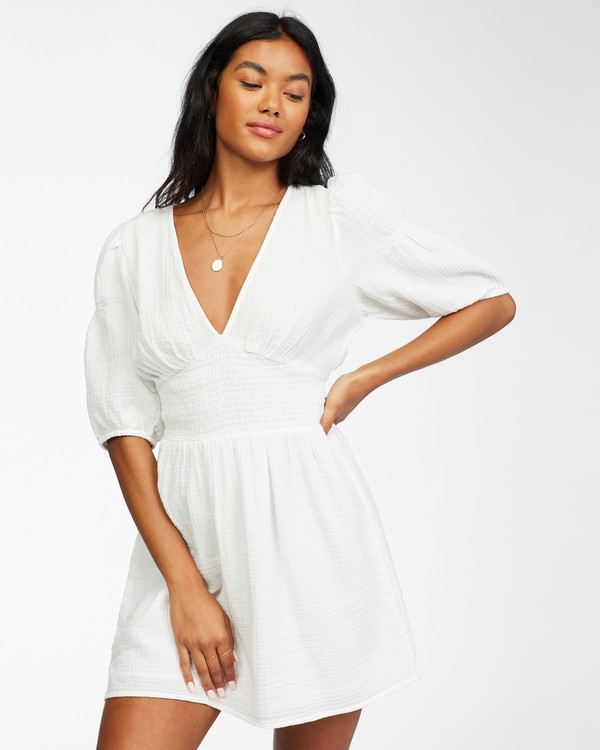 0 Spellbound Woven Dress White ABJWD00224 Billabong