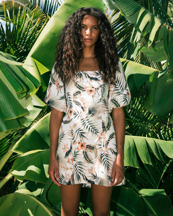 0 Paradise Mini Dress Grey ABJWD00225 Billabong