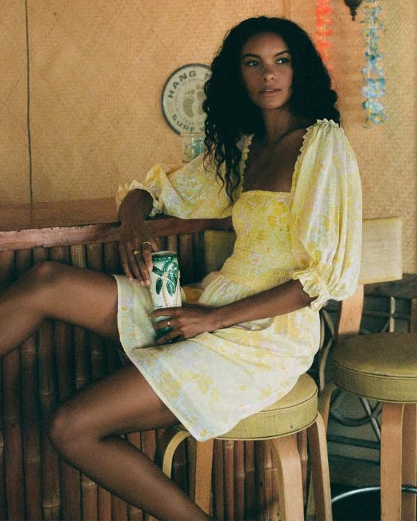 0 Groovy Girl Woven Dress Yellow ABJWD00246 Billabong