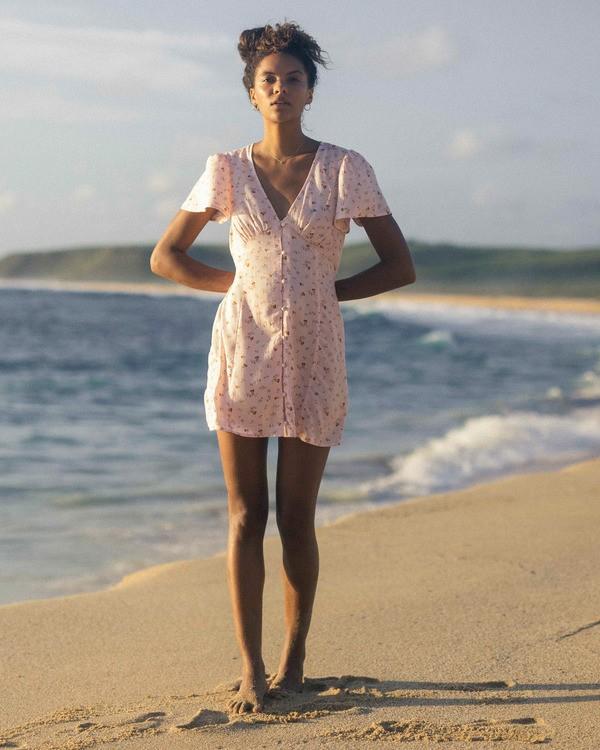 0 Full Swing Mini Dress Pink ABJWD00254 Billabong