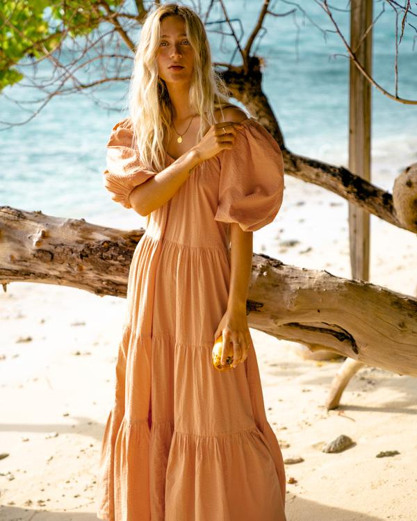 0 Endless Shore Maxi Dress Brown ABJWD00261 Billabong
