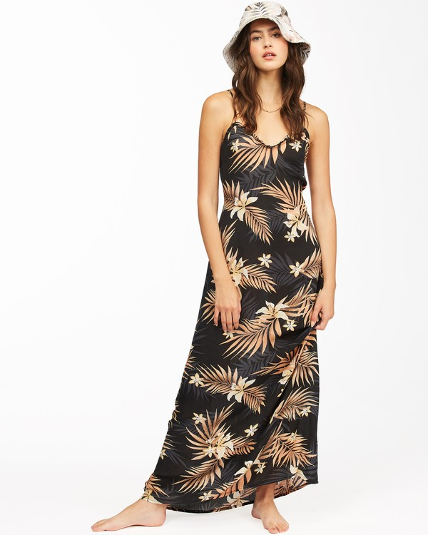 0 Shallow Seas Maxi Dress Black ABJWD00262 Billabong