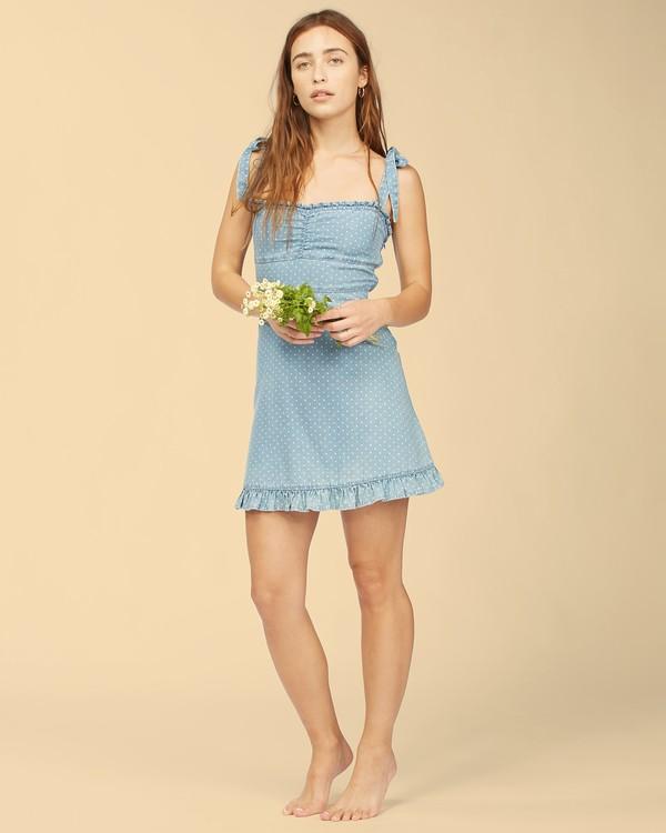 0 Wrangler Lovely Day Dress Blue ABJWD00269 Billabong