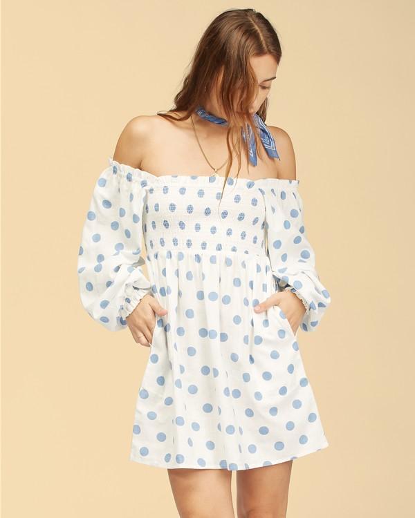 0 Wrangler Bellflower Dress White ABJWD00270 Billabong