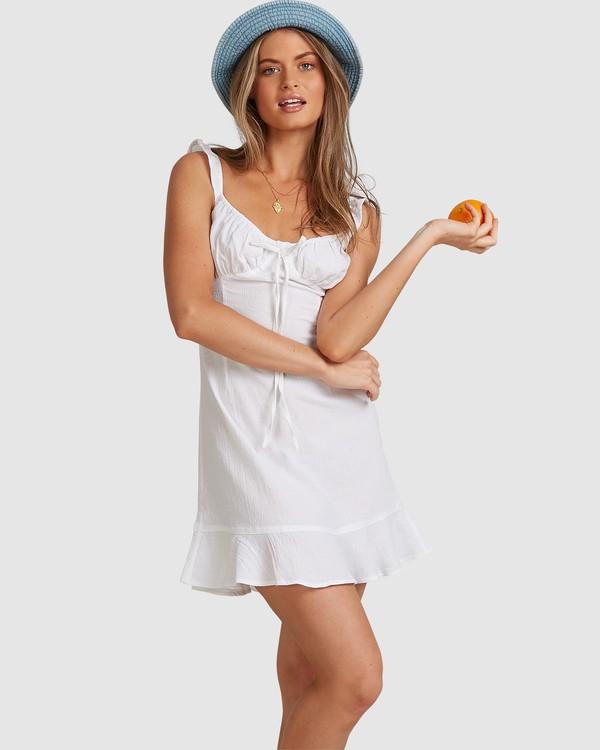 0 Beach Bliss Dress - Steph Claire Smith White ABJWD00293 Billabong