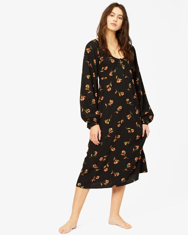0 Sweet To Me Long Sleeve Maxi Dress Black ABJWD00333 Billabong
