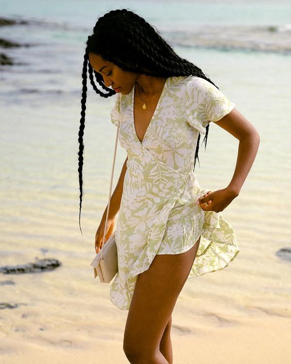 0 Honey Dew Wrap Dress Green ABJWD00382 Billabong