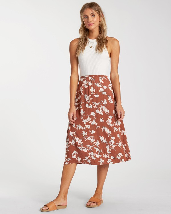 0 Wild And Free Skirt Brown ABJWK00117 Billabong