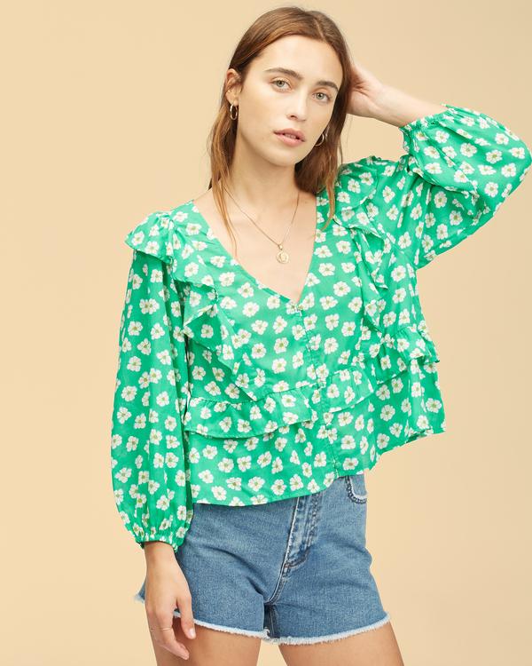 0 Wrangler Romance Me Top Green ABJWT00236 Billabong
